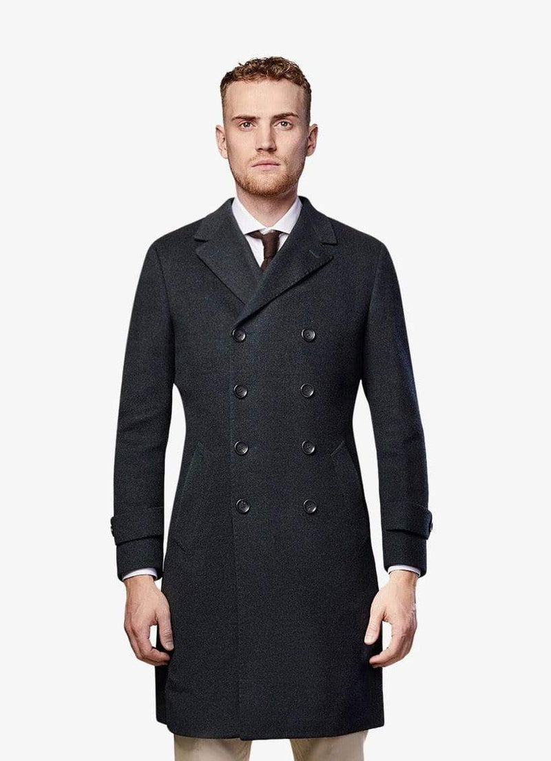 Green Double Breasted Overcoat