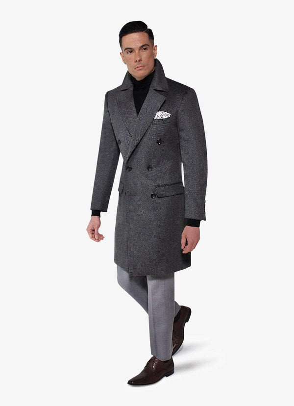 Grey Alpaca Overcoat