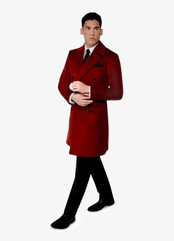 Red Cashmere Overcoat