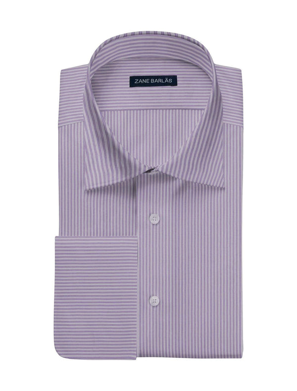 LIGHT PURPLE STRIPE SHIRT