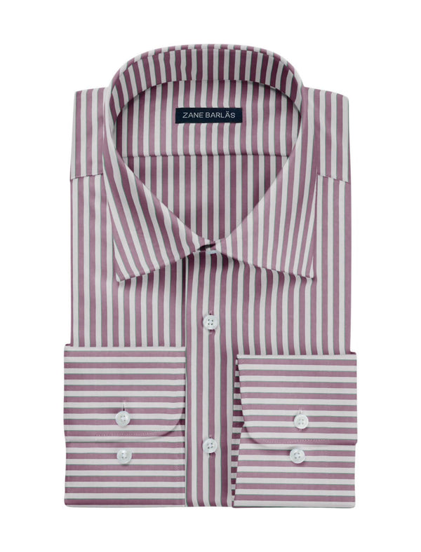 PINK AND WHITE STRIPES SHIRT