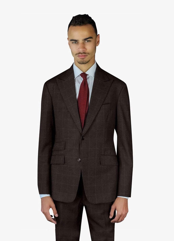 Brown Windowpane Suit