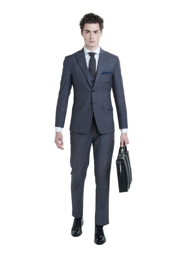 Grey Pinstripe Suit