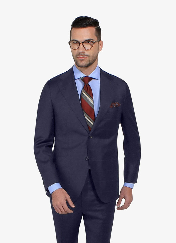 Oxford Navy Windowpane
