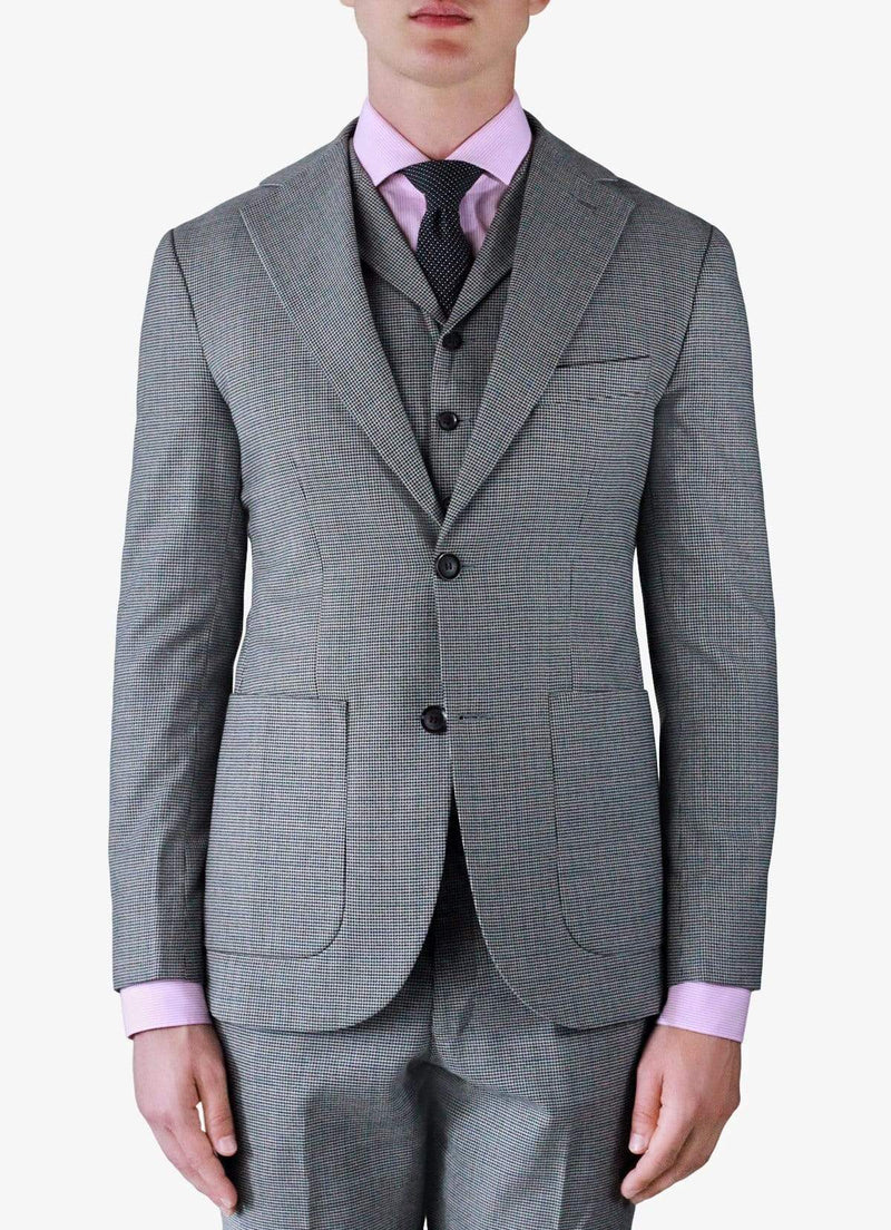 Saint Tropez Grey Houndstooth