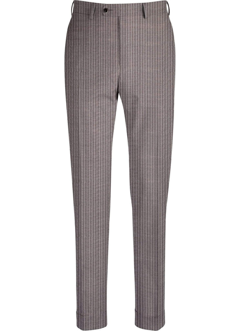 Grey Pinstripe Trousers