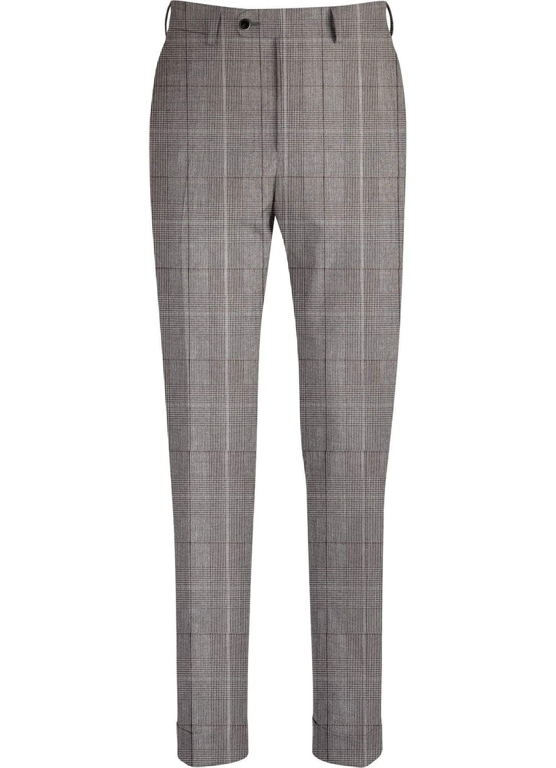 Grey Plaid Trousers