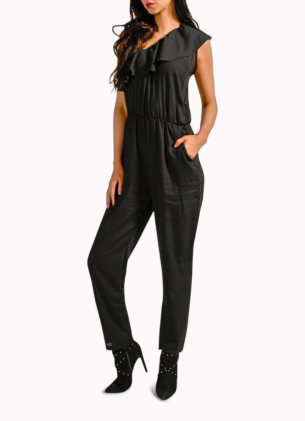 Black Off-Shoulder Jumpsuit