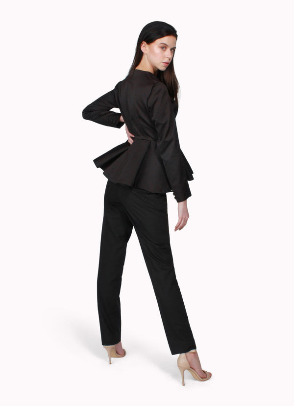 Black Peplum Suit