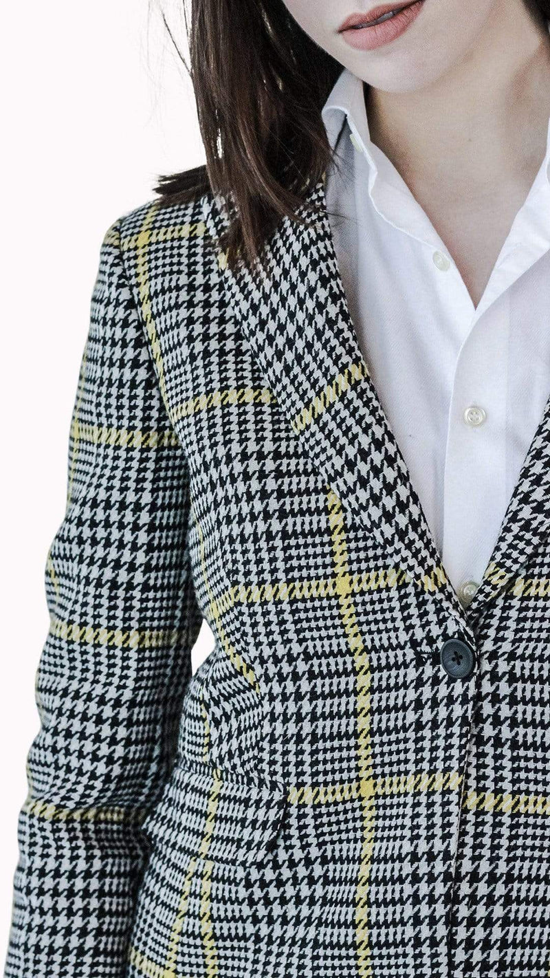 Black & White Houndstooth Suit