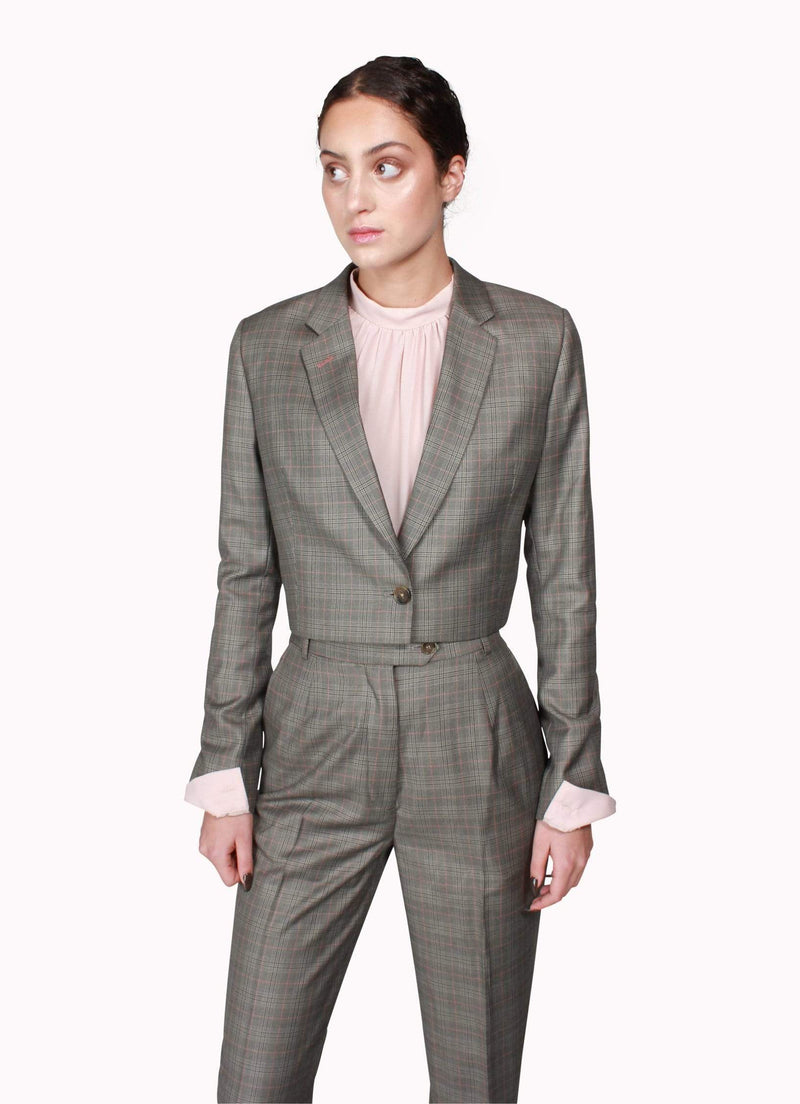 Grey Crop Suit