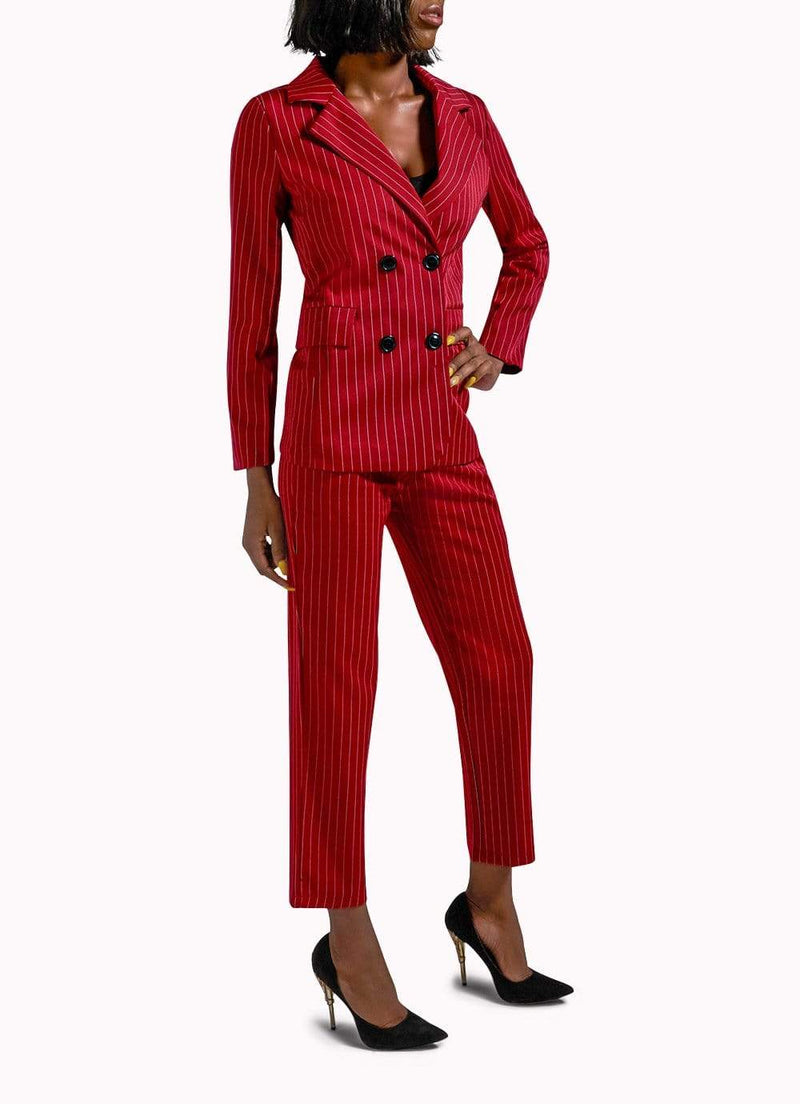 Oxblood Red Suit