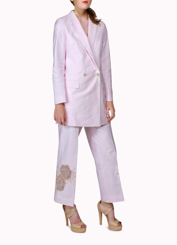 Pink Long Jacket Suit