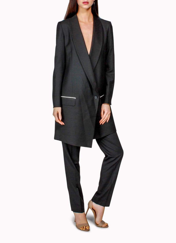 Black Long Jacket Suit