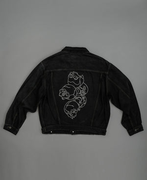 Load image into Gallery viewer, Stacked Skulls x Vintage Denim Jacket