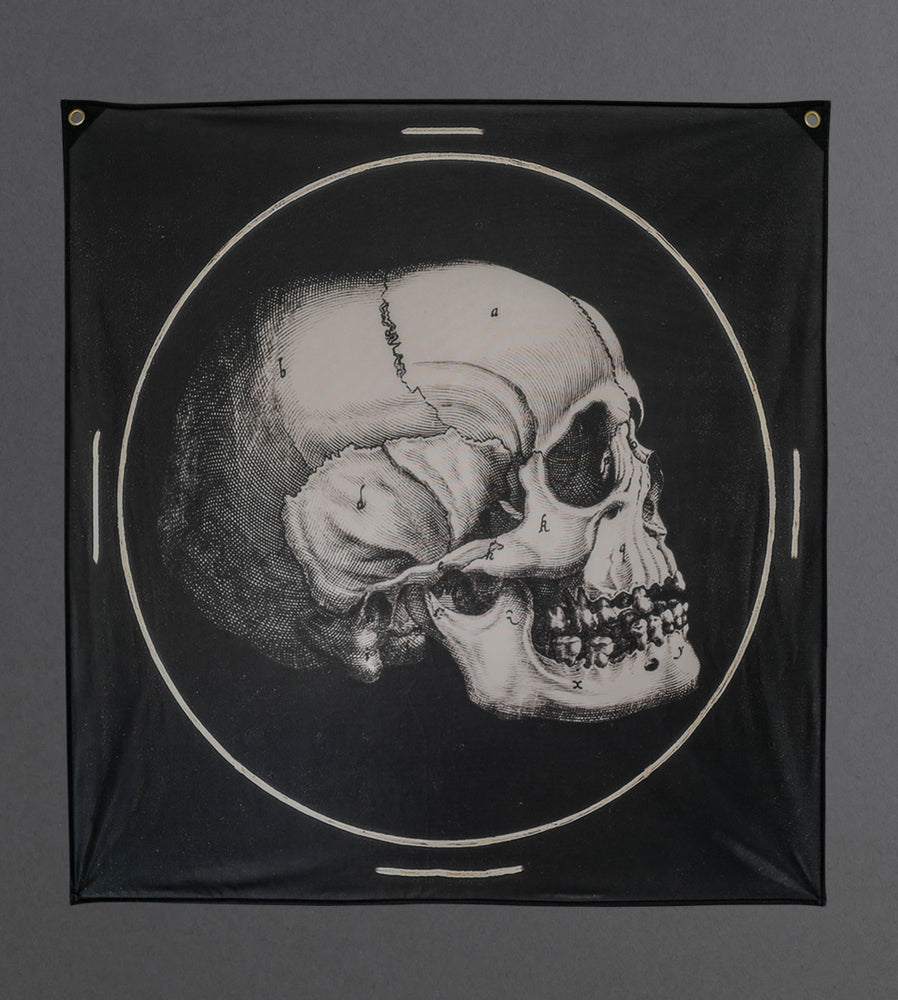 Load image into Gallery viewer, Plaster Skull Tapestry