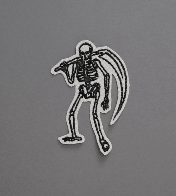 Skeleton Reaper Canvas Patch - Cream