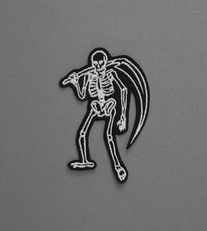 Skeleton Reaper Canvas Patch - Black