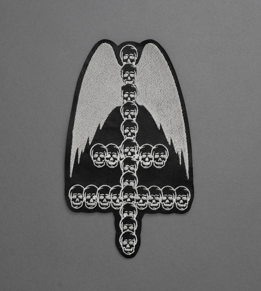 Skull Cross Leather Patch