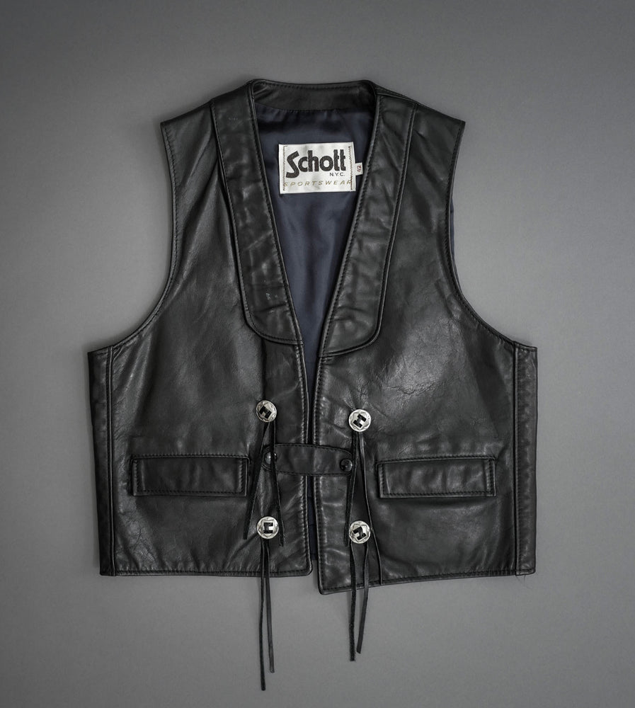 Load image into Gallery viewer, Hand Painted Leather Vest 3