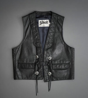Hand Painted Leather Vest 3