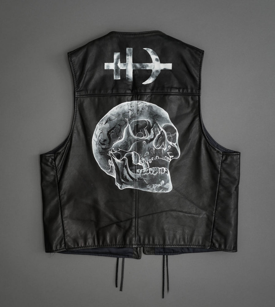 Hand Painted Leather Vest 2