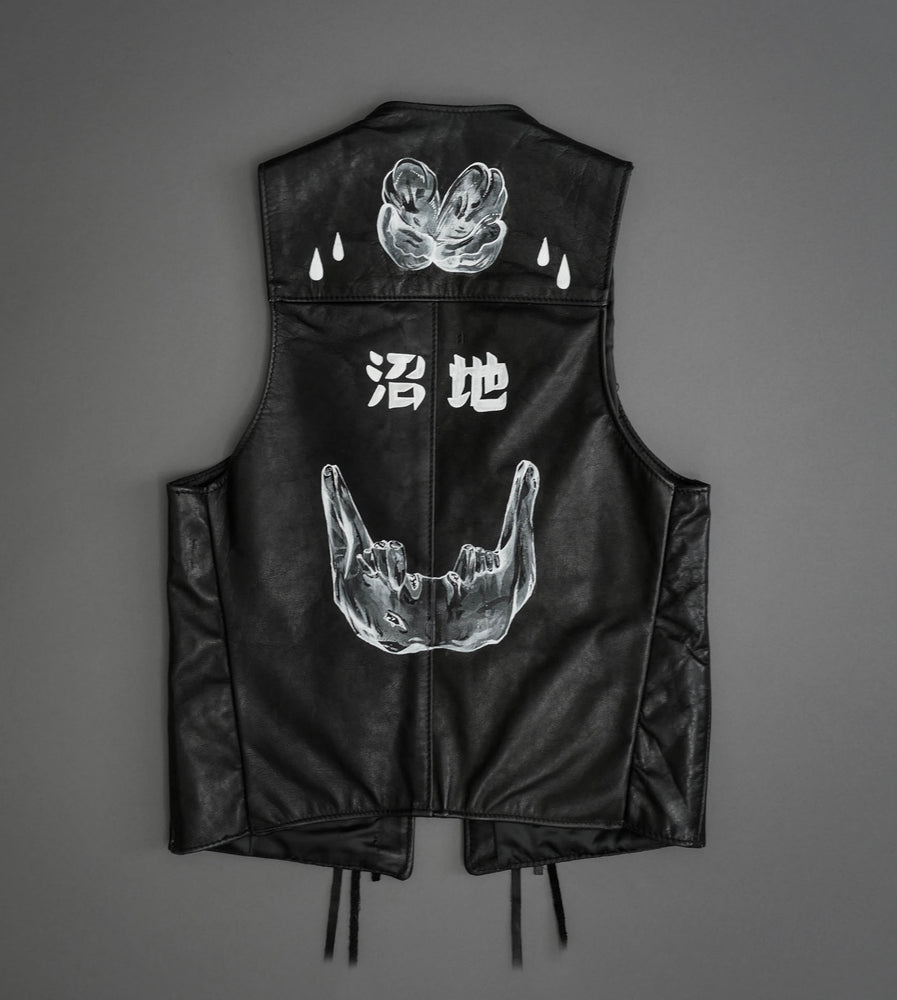 Hand Painted Leather Vest 1