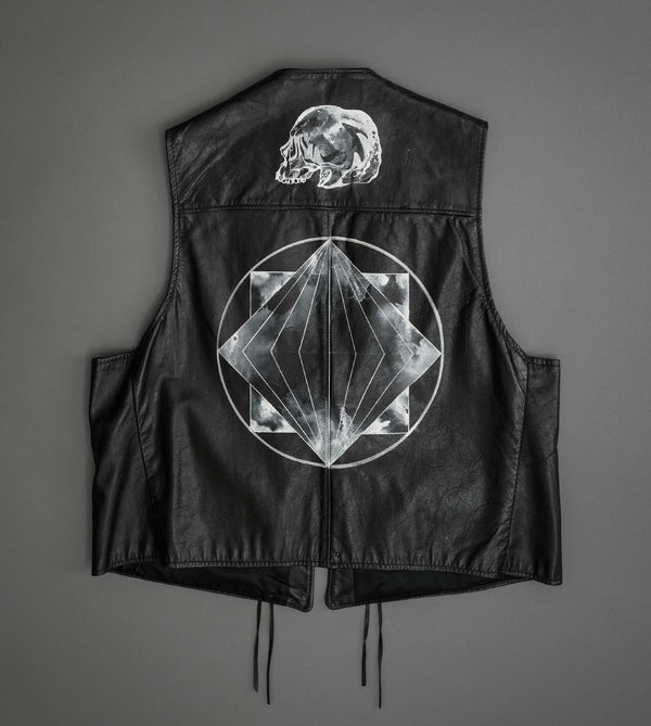 Hand Painted Leather Vest 4