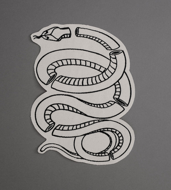 Glass Snake Canvas Back Patch - Cream