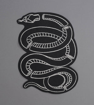 Glass Snake Canvas Back Patch - Black