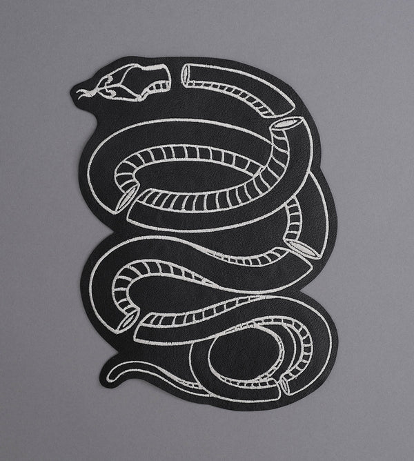 Glass Snake Leather Back Patch