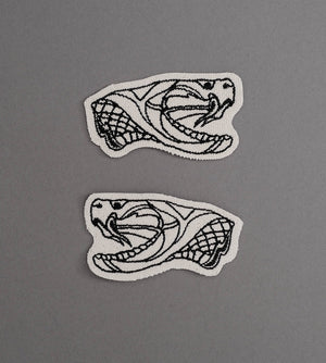 Snake Head Set Canvas Patch - Cream