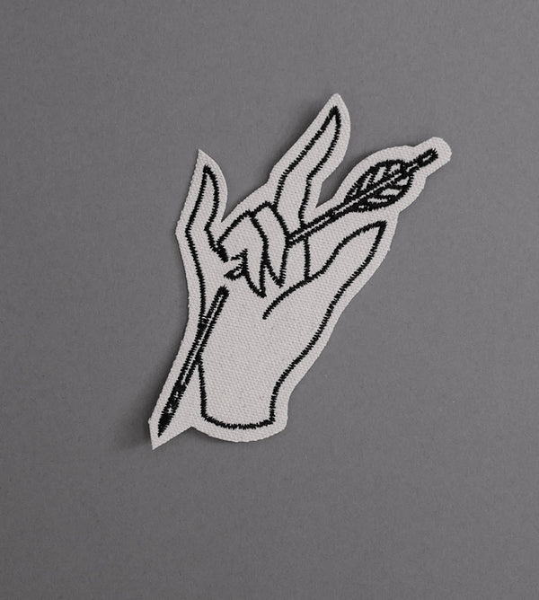 Devil Hand Canvas Patch - Cream