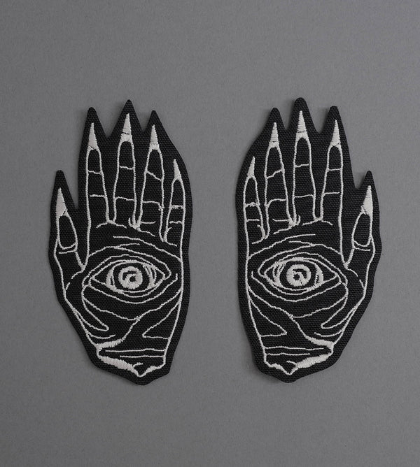 Death Hands Set Canvas Patches - Black