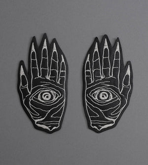Death Hands Set Leather Patch