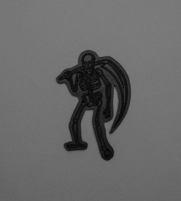 Skeleton Reaper Leather Patch - Blacked Out