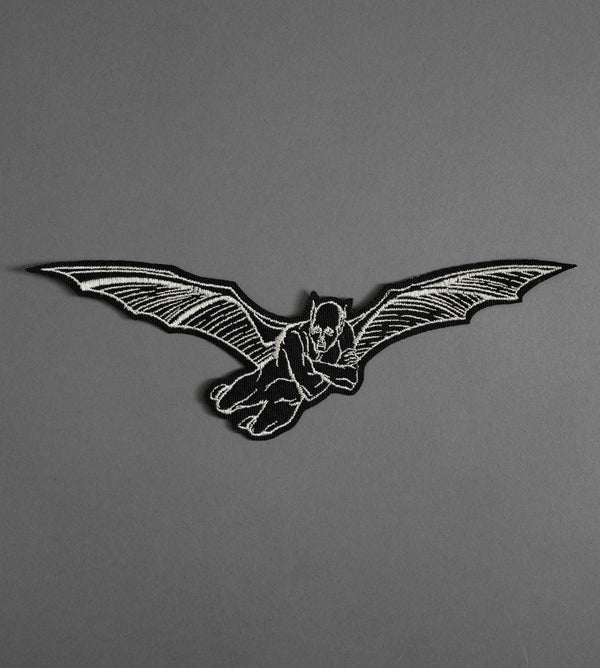 Flying Demon Canvas Patch - Black