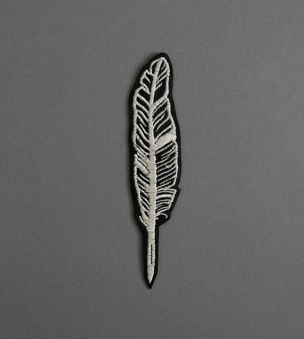 Feather Leather Patch