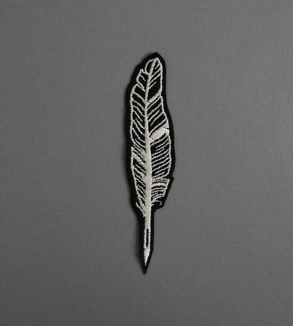 Feather Canvas Patch - Black