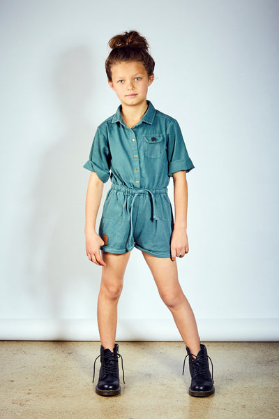 Kids Zoe Jumpsuit - Green