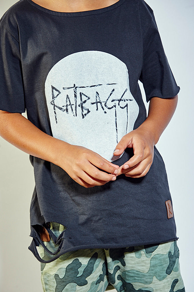 Kids Ripped Moon Tee - Dark Grey