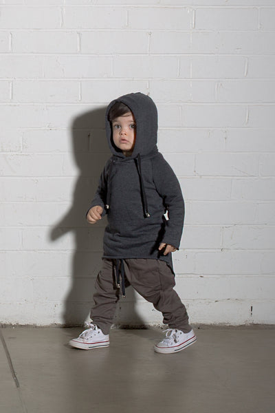 Kids Skinny Trackies - Dirty Brown