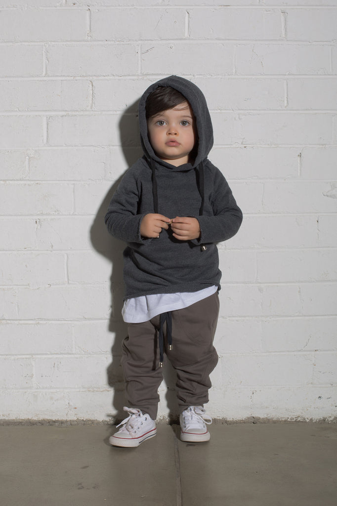 Kids Mortz Hooded Jumper - Black