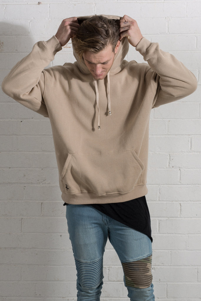 Dante Hooded Jumper - Tan