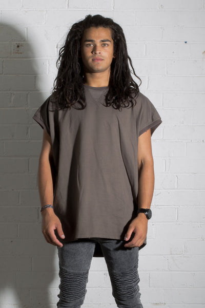 Tank Jumper - Washed Brown