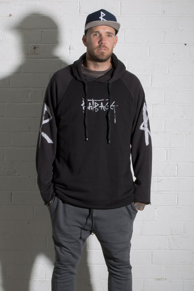 Hank Hooded Jumper - Black