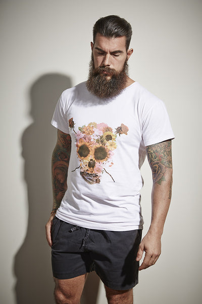 Ratbagg Clothing Skull Tee - White