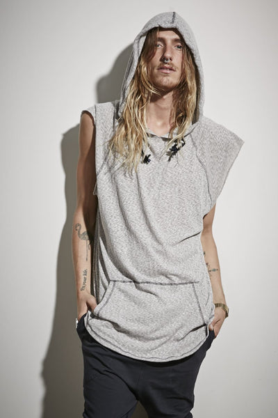 Chaser Hooded Tank - Grey Flicker