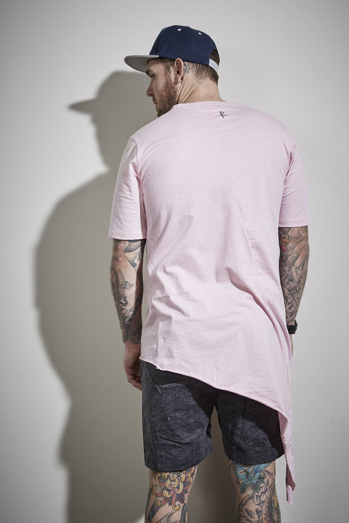 Side Tail Tee - Rose