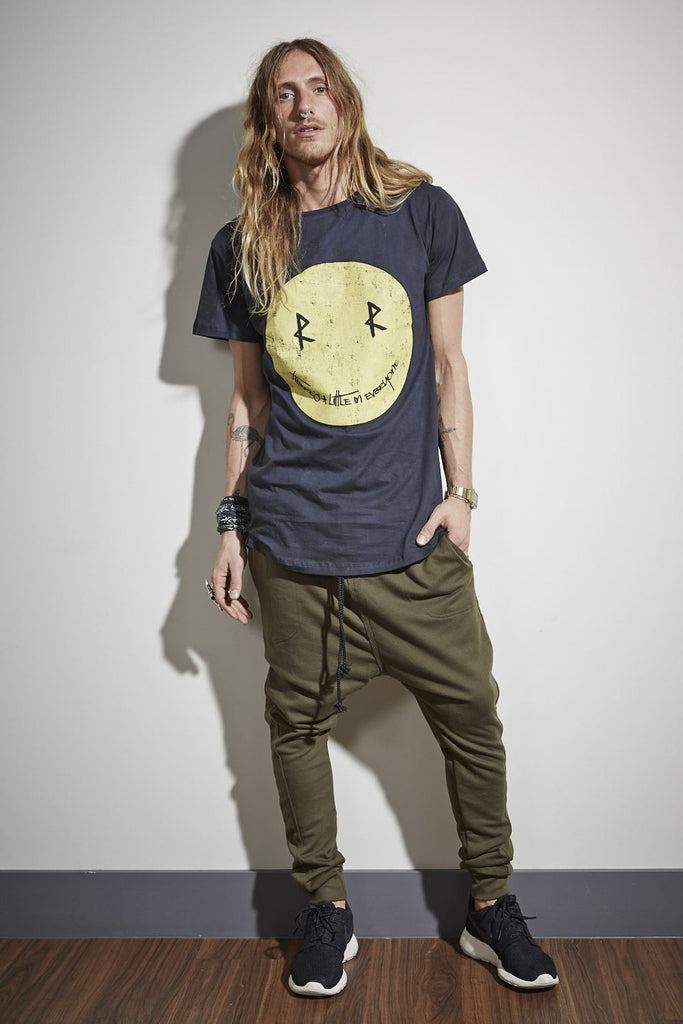 Smiley Face Tee - Black